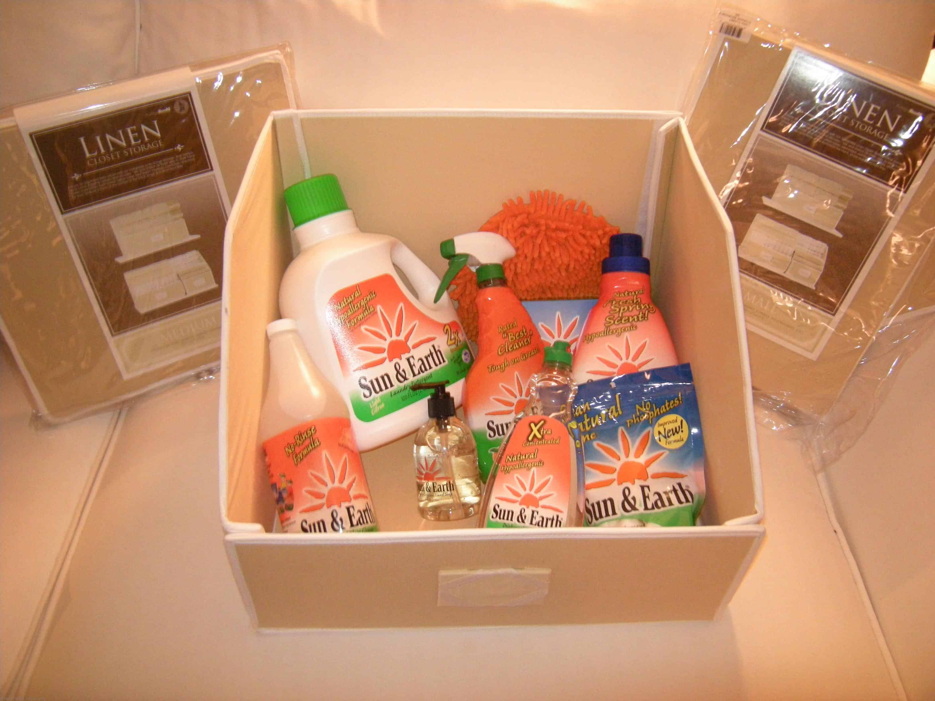 Sun and Earth product with Linen Organizers Prize Package