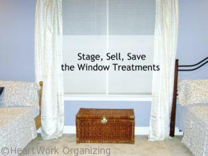 Stage, Sell, Save the Window Treatments