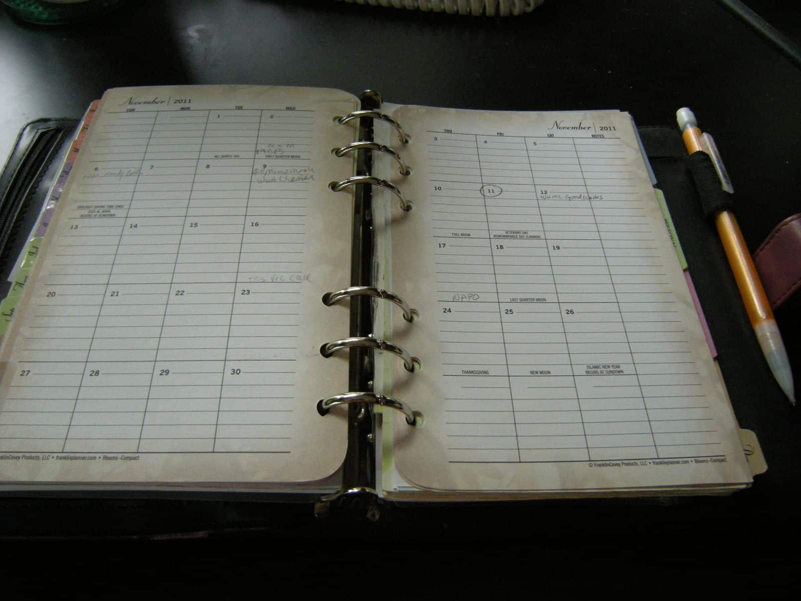 Monthly Calendar Page