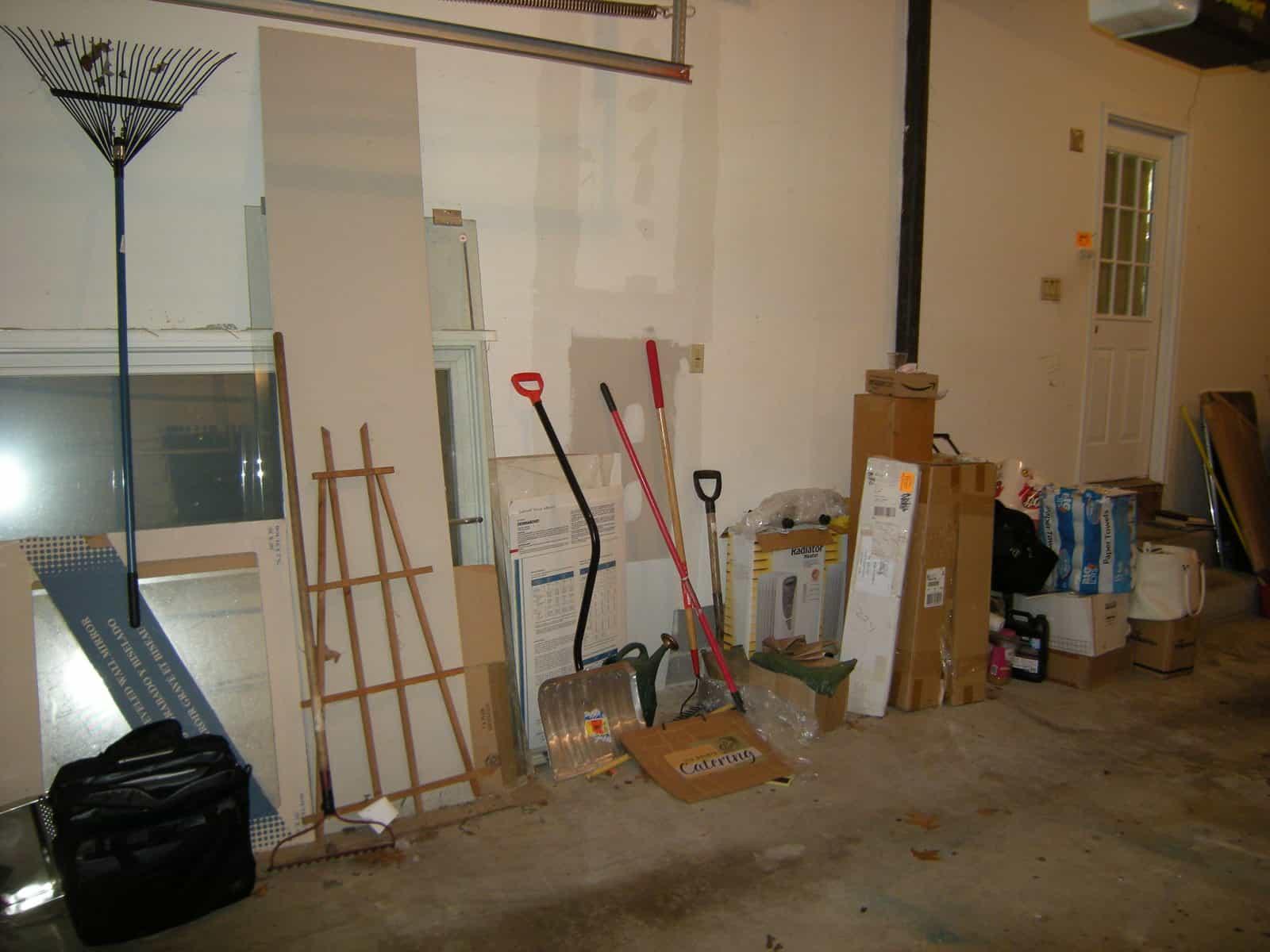 before, organizing garage