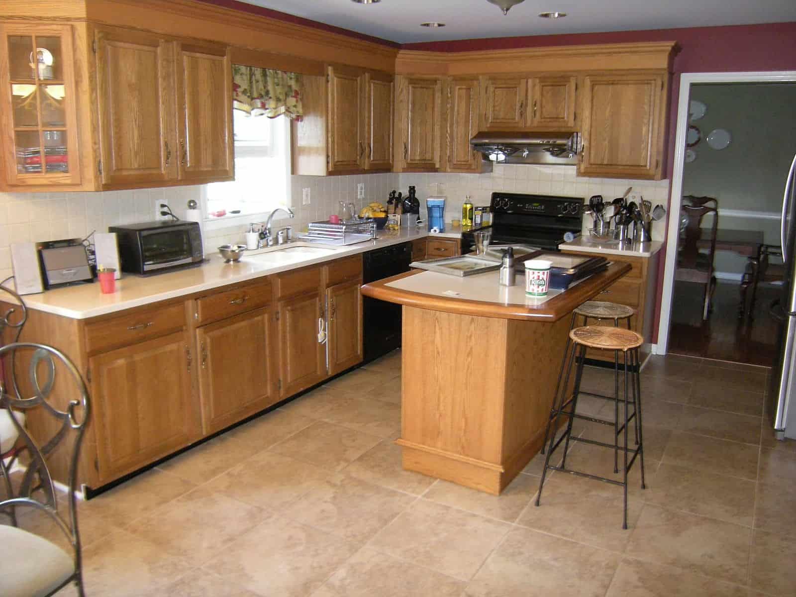 kitchen before Rustoleum Cabinet Transformations Kitchen Remodel