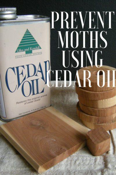 How to Get Rid of and Prevent Moths Using Cedar Oil