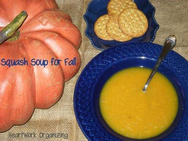 Slow Cooker squash soup for fall