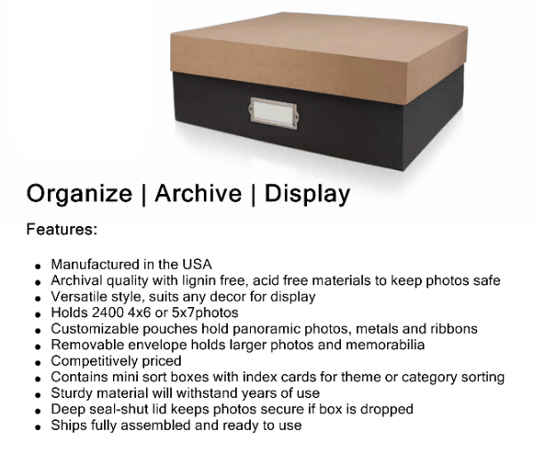 photo organization box