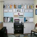 Home Office Bookcase Makeover and Pull-Out Desk Super Powers {Decorator's Home Office Makeover}