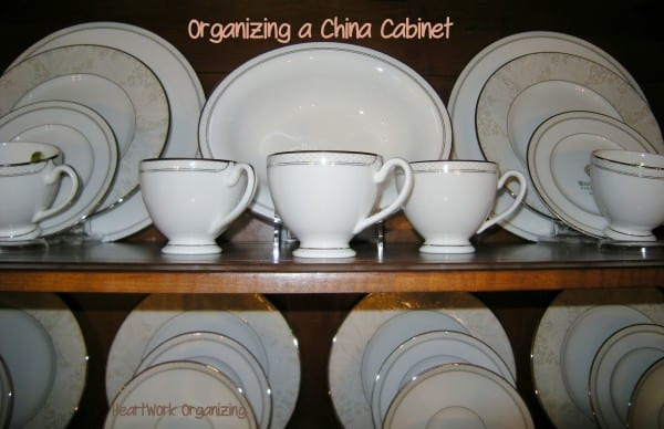 china cabinet organizing, how to arrange a china cabinet