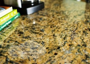 kitchen makeover with faux granite film