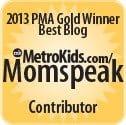 blog contributor for MetroKids magazine