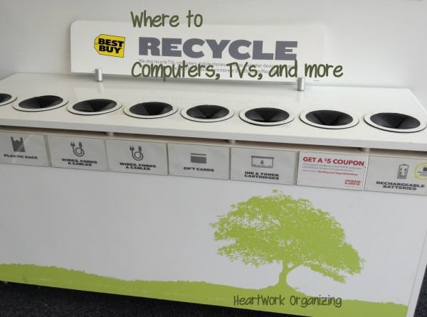 organizing and recycling e-waste
