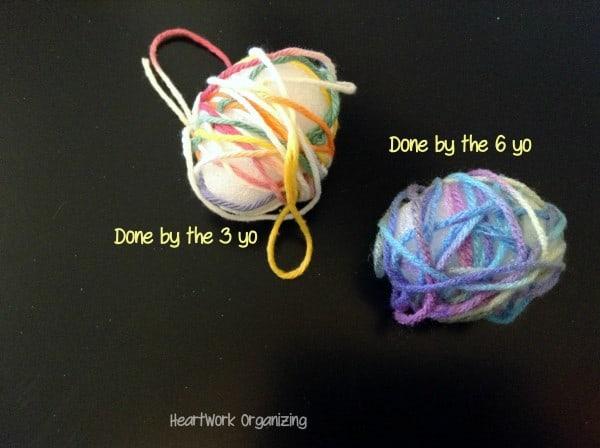 Easy Yarn Easter Craft (6)r