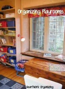 how to organize playrooms