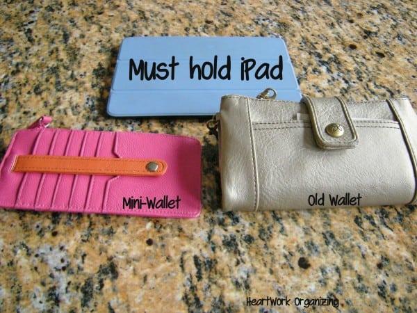 organizing purse with iPad