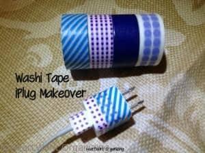 washi tape to label electronics