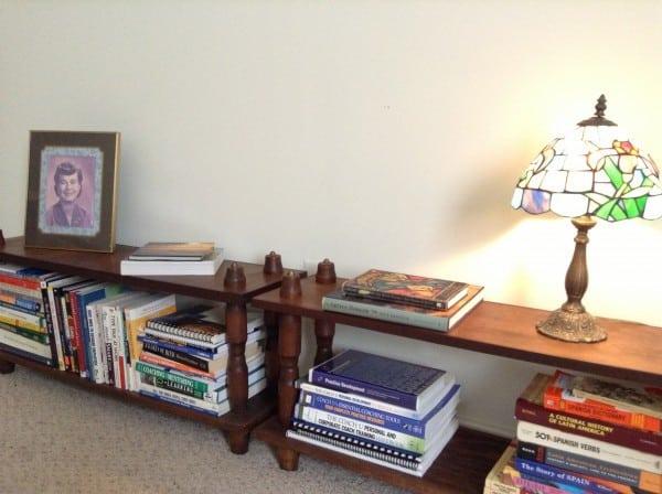 Office Makeover bookshelves