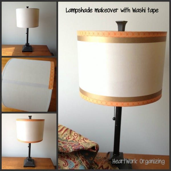 lampshade collage with Washi Tape