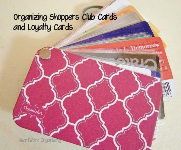 Organizing Shoppers Club Cards and Store Loyalty Cards