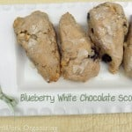 Blueberry White Chocolate Chip Scones