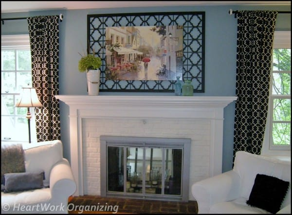 mantel art fromed in iron screen