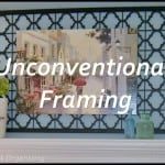 Decorating a Mantel with a Non-traditional Frame