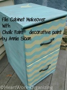 chalk paint file cabinet makeover