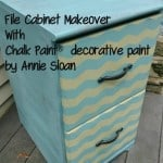 Fun Chevron File Cabinet {With Chalk Paint® decorative paint by Annie Sloan}