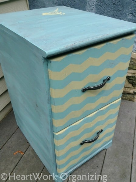 File Cabinet Makeover with Annie Sloan Chalk Paint (19) with hardware