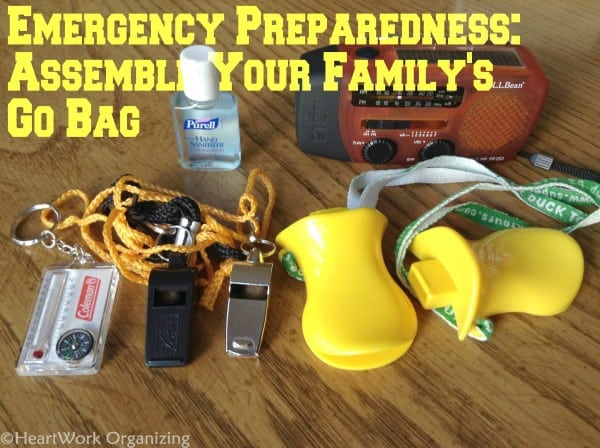 National Preparedness Month GO bag