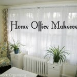 Home Office Makeover with Expedit Shelving {IKEA}
