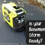 Storm Readiness- #Ryobi Generator to Backup a Basement Sump Pump