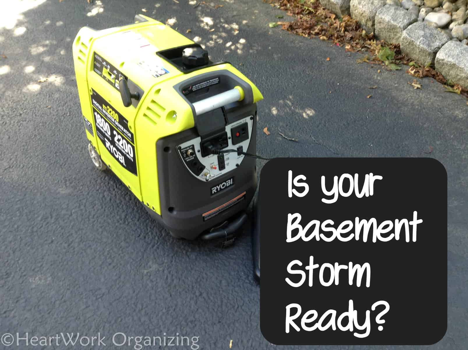 Storm Readiness Ryobi Generator to Backup a Basement Sump Pump