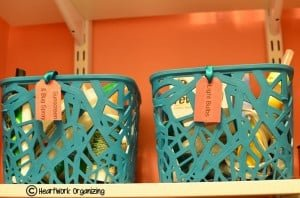 Laundry room organizing makeover