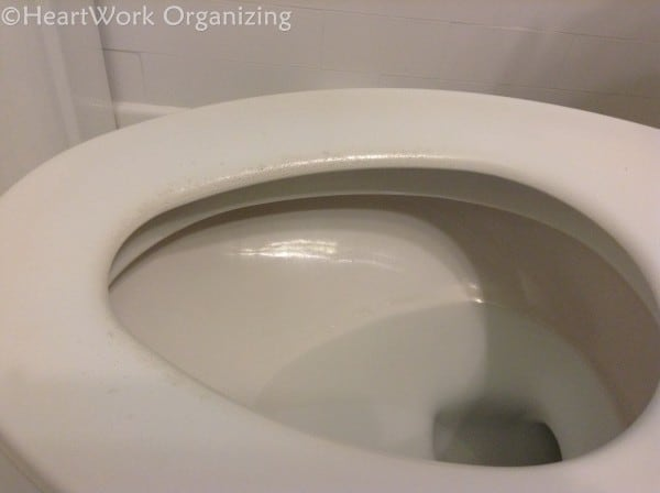 painted wood toilet seat makeover