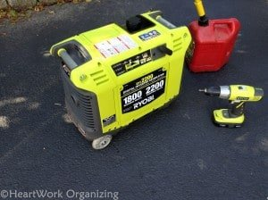 gas-powered generator as sump pump backup solution