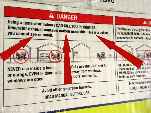 generator safety when pwoering basement sump pump