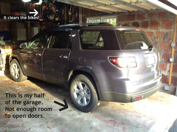 GMC Acadia in garage