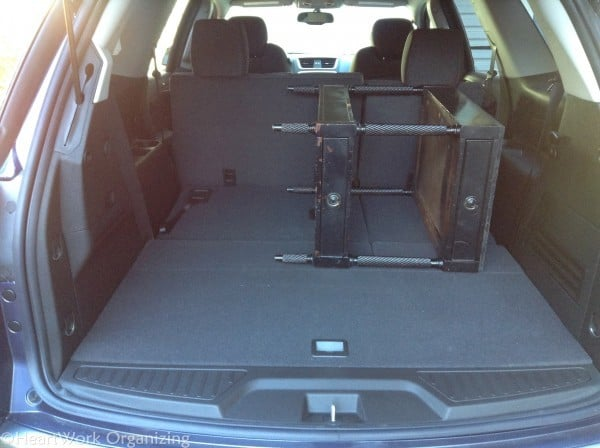 GMC Acadia rear storage space