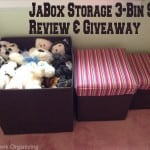 JaBox Storage Bins {Review & Giveaway}