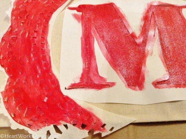 painting monogrammed tote bags