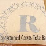 Handmade Monogrammed Tote Bag {Gift Idea}
