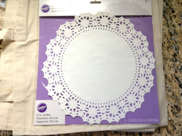 doilies for monogrammed tote bags