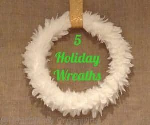 5 holiday wreaths