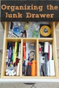 how to organize the junk drawer