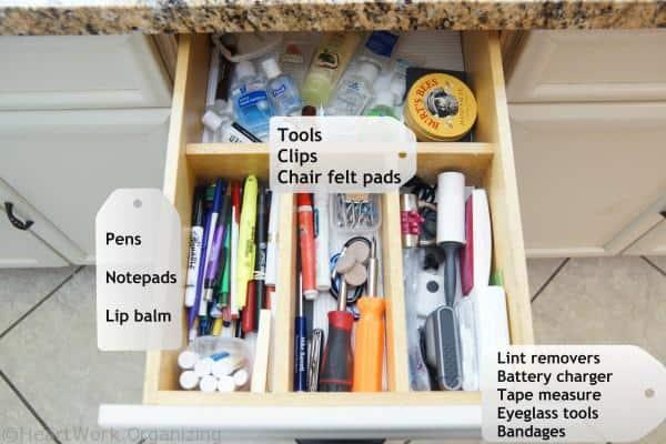junk drawer organizing categories