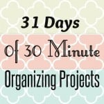 Getting Organized in the New Year: 31 Days of 30 Minute Organizing Projects