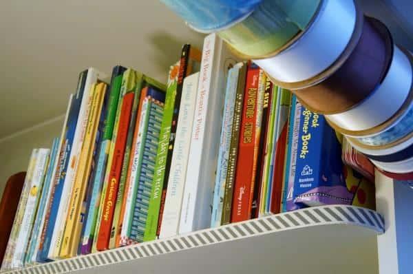 book storage, linen closet
