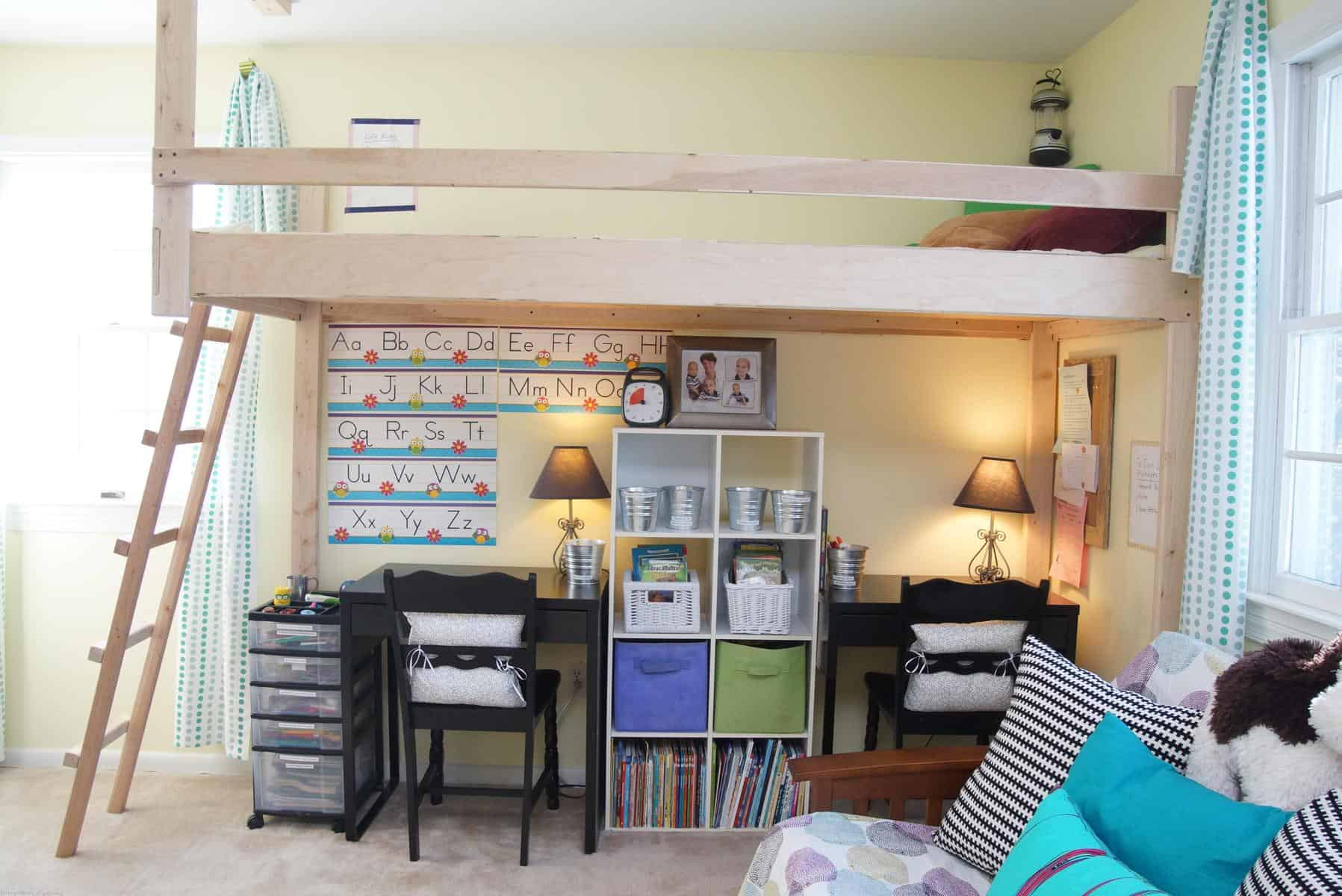 Meet up in the loft home office playroom makeover for Office playroom