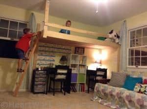 ladder on loft playroom