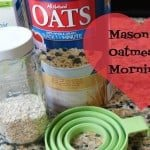 New Year Breakfast Hack {Mason Jar Oatmeal Mornings}