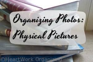 How to organize physical pictures