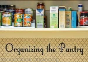 Tips for organizing a pantry